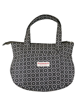 Krasilnikoff Bag Characoal Circle Dots